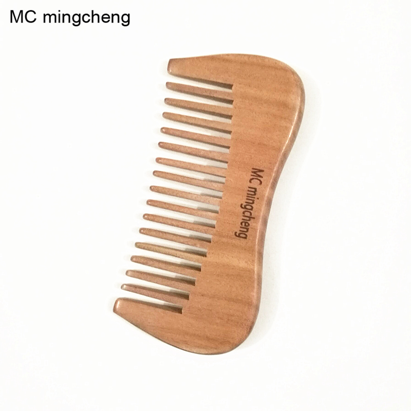 MC Hot Sale Natural Health Massage Comb For Hair Red Sandalwood Comb Pocket Mustache Beard Comb Wood Hair Brush Wide Tooth