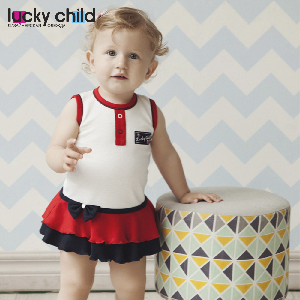 Dresses Lucky Child for girls 18-61 Dress Kids Sundress Baby clothing Children clothes lcjmmo new girls party dresses summer 2017 brand kids bow plaid dress princess costumes for girl children clothes 2 7 years