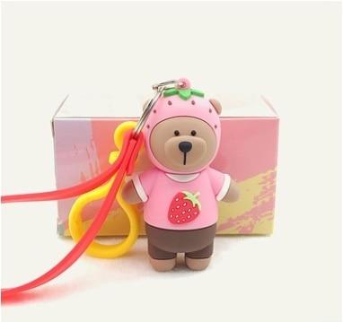 2019 novos projetos N02!!! brinquedos figura Da Boneca Chaveiro Urso Dos Desenhos Animados charme para garrafa térmica copo caneca presente amigo anel brinco