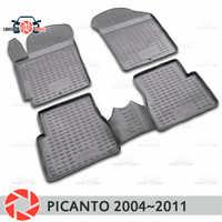 Tappetini per Kia Picanto 2004 ~ 2011 tappeti antiscivolo poliuretano sporco di protezione interni car styling accessori