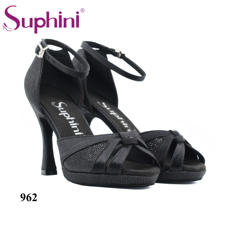 2019 Suphini New Design 962 Black Glitter Ankle Strap High Heel Latin Dance Shoes Free Shipping 2019 Suphini New Design 962 Black Glitter Ankle Strap High Heel Latin Dance Shoes Free Shipping