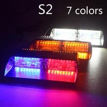 Super Bright 16LED 48W Viper S2 Signal flashing led warning light Red/Bule/yellow/White Police Strobe Flash emergency Lights