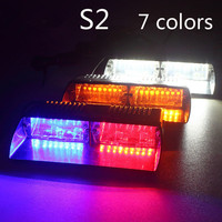 Super Bright 16LED 48W Viper S2 Signal Flashing Led Warning Light Red Bule Yellow White Police