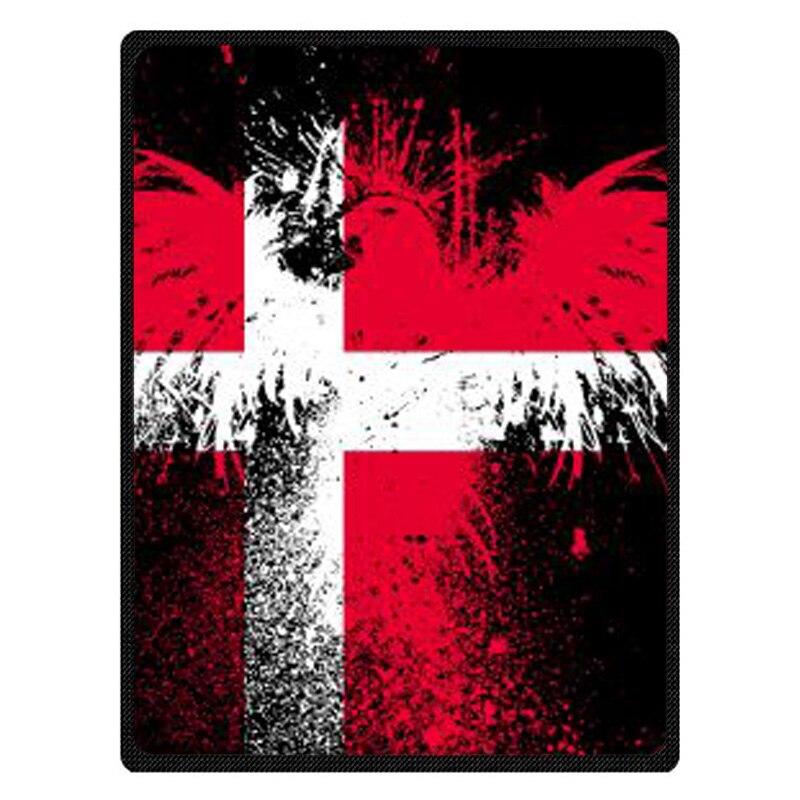 Hot Sale Kintting Blankets Flag Of Denmark Manta Fleece Blanket Sofa/Bed/Plane Travel Plaids Bedding bedspread