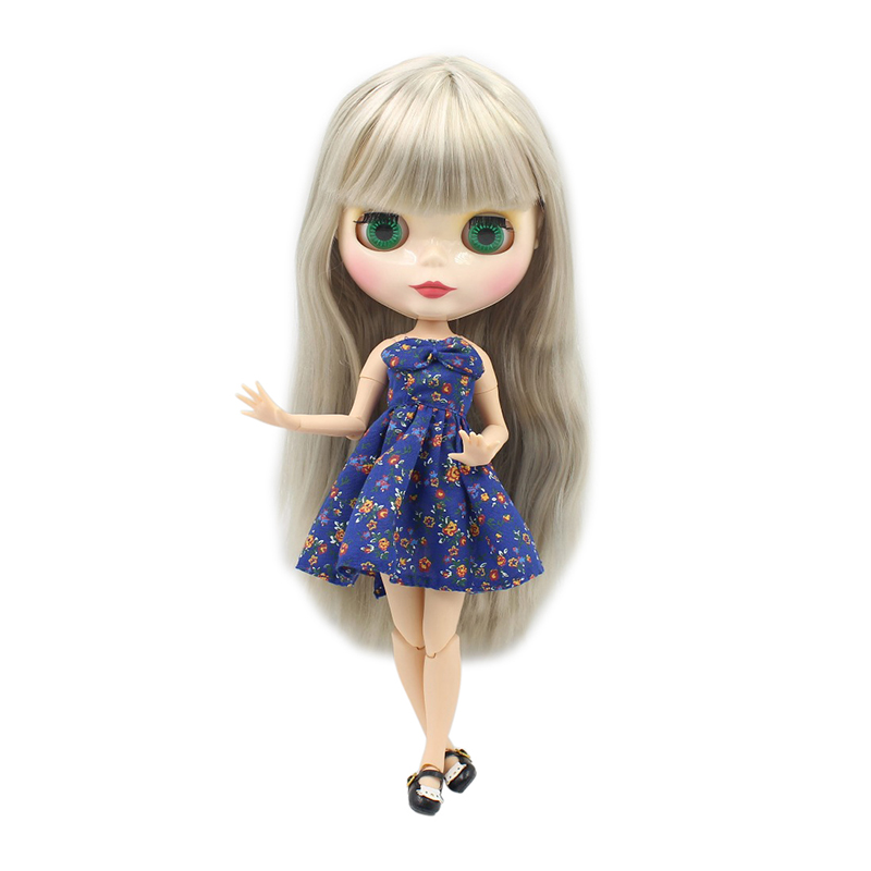 factory blyth doll BL3167 grey straight hair joint body 1 6 30cm bjd