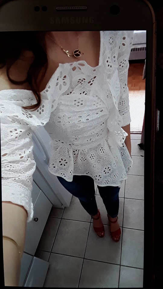 Lace Shirts Blouse Female Long Sleeve Off Shoulder Hollow Out Asymmetrical Tops Female Autumn Sexy Fashion photo review