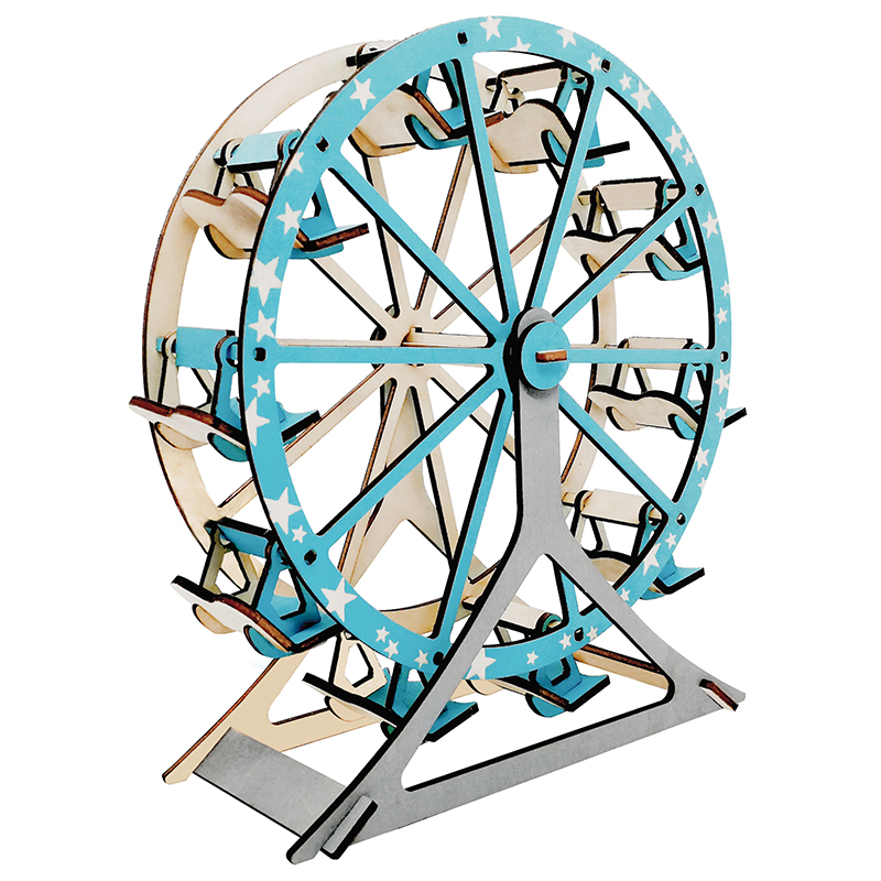 Ferris Wheel Assembly Toy Assembly Model Wood 3D Diy Model Kit Children Adults Children's Educational Hobi Toys Maquete