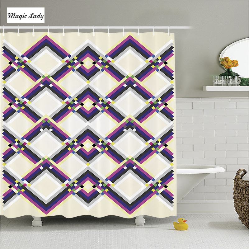 Magenta Home Decoration: Shower Curtain Lace Bathroom Accessories Abstract Art