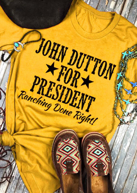 John Dutton For President Yellowstone Graphic T-Shirt