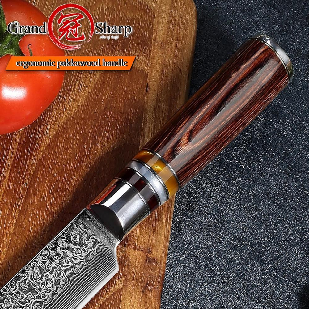 Chef's Knife Damascus Knives 8 Inch Slicing Knife 67 layers Japanese Kitchen Knife VG10 steel Meat Fish Salmon Sashimi Sushi