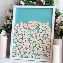 personalize Wood Wedding Guest Book Alternative, Wedding Guest Book Drop Box, Guest Book hearts party decorations