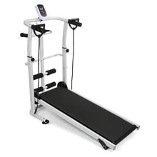 Беговая дорожка складная ручная тренировочная Спортивная Многофункциональная Бесшумная фитнес-оборудование 3 в 1 скручивающая поясная машина