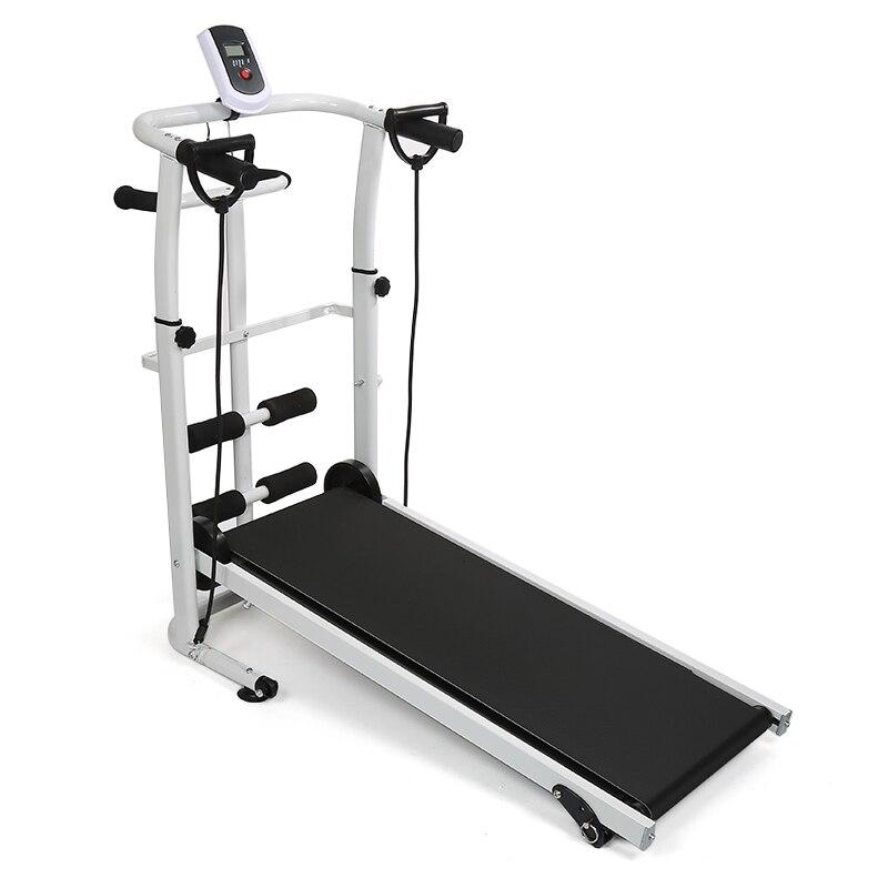 Tapis roulant pliable manuel entraînement de course sport multifonctionnel muet équipement de Fitness 3 In1 torsion taille Machine