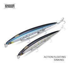 Kingdom Fishing Lure Sea Fishing Jerkbait Bait 180mm 29g/33g Floating Slow Sinking Wobblers Minnow Six Color Model 5333-S(China)