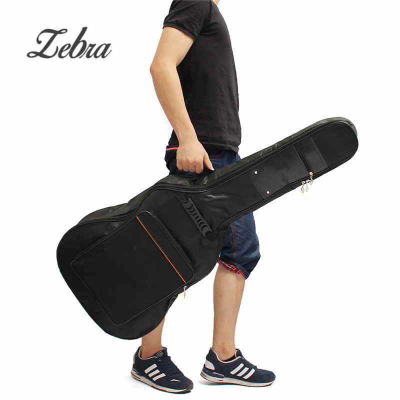 38/39/40/41 Inch Canvas Padded Bass Guitar Bag Backpack Guitar Case Cover With Double Shoulder Straps for Musical Ukulele Parts 40 41 soft acoustic guitar bass case bag cc apb bag acoustic guitar padded gig bag with double padded straps and backpack