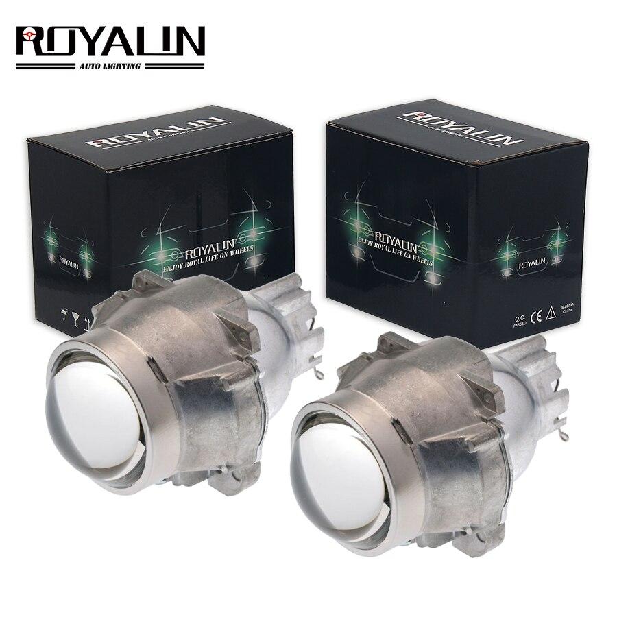 ROYALIN voiture HID Bixenon projecteur phares lentille FX-R D2S pour Stanley feux de croisement Auto phares utiliser D1S D3S D4S H7 ampoules