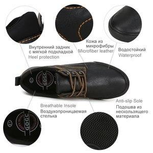 Image 5 - GOGC zapatos informales de cuero para hombre, zapatillas masculinas de estilo mocasín de cuero, zapatos de lona de estilo Casual, 2020