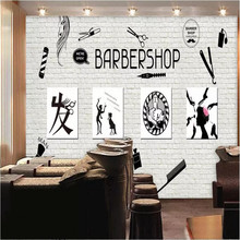 Original barber shop image wall background professional production mural factory wholesale wallpaper photo