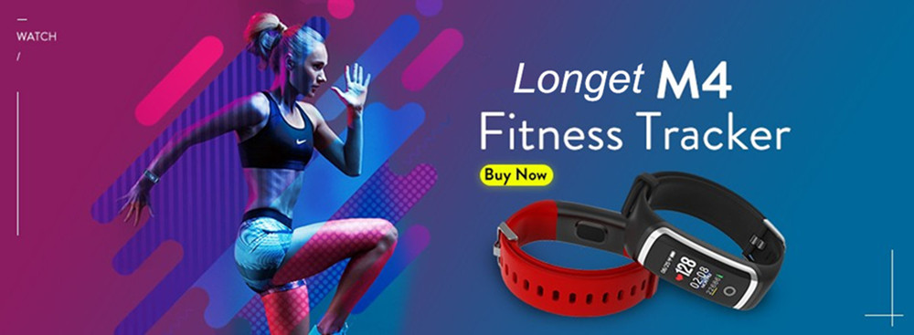 Longet Fitness Tracker M4 Newest chip Nrf52832 real-time Heart Rate+ blood pressure Monitor Smart Bracelet wristband & stopwatch 4