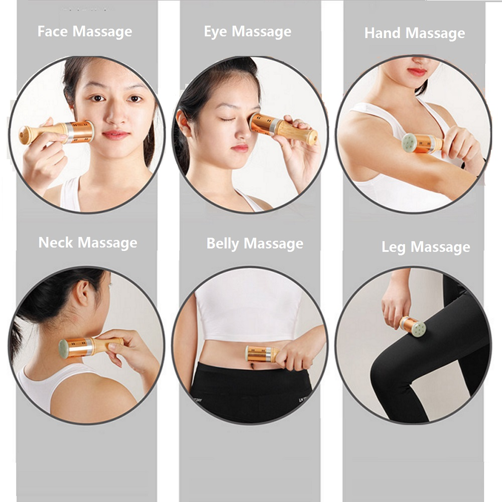 Warm Moxibustion Rods Jade Bottom With 3 Pure Moxa Stick Traditional Chinese Massage Therapy For Eye Face Ears Health Care in Massage Relaxation from Beauty Health