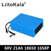 LiitoKala 60 в 1500 Вт литий ионный аккумулятор 60 в 21ah Электрический велосипед батарея 60 в 20AH скутер батарея с 30A BMS + 67,2 в 2A зарядное устройство