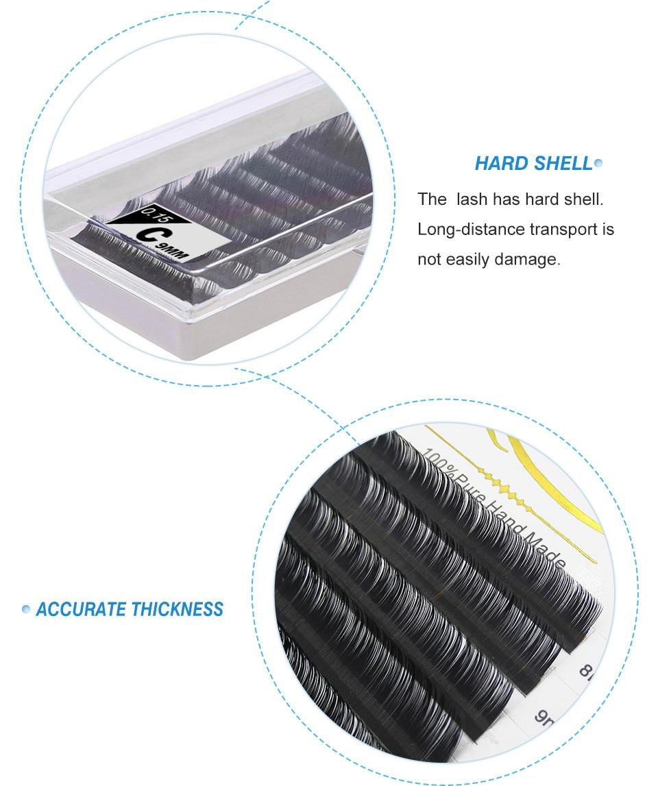 quewel maquiagem cilios 6 bandejas 8-15mix