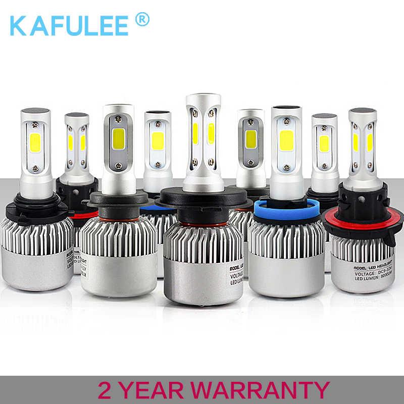 GZ kafolee h7 h4 h1 h3 h8 h9 h10 h11 9005 9006 9012 hb3 hb4  S2 Auto Car Headlight 72W 8000LM S2 automobiles lamp car led bulb