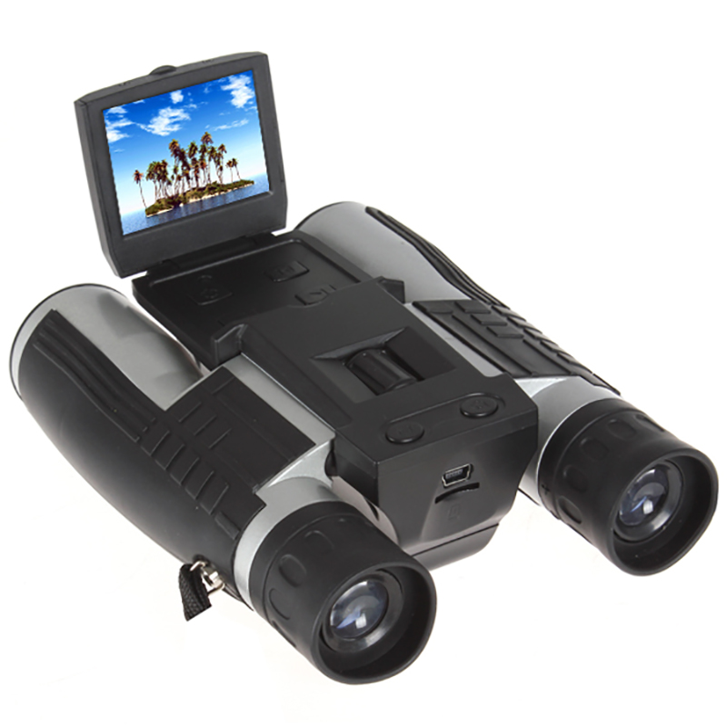 12x32 HD 1080P Binoculars Digital Camera 5MP CMOS USB Binocular Telescope 2.0'' Screen Zoom Telescope Camcorder Video Recording 2 lcd screen cmos hd 720p usb digital binocular telescope 96m 1000m zoom telescopio dvr binoculars photo camera video recording