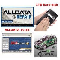 Alldata 1TB HDD 10.53 ALL DATA Mitchell on demand 2015 usb harddisk vivid workshop data repair manual atsg mitchell manager plus