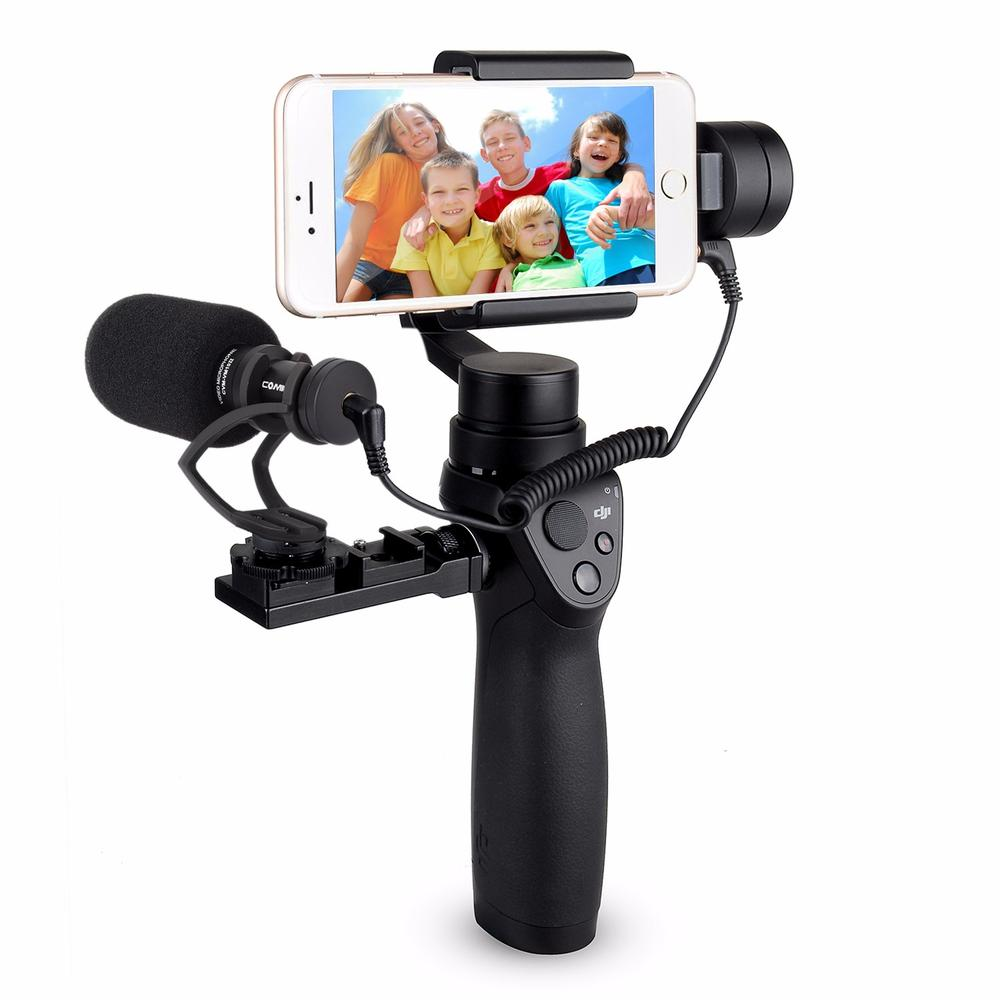 CVM VM10 II Cardioid Directional Shotgun Video Microphone for DJI OSMO Mobile Plus Smartphone GoPro Micro Camera Black Mount in Microphones from Consumer Electronics