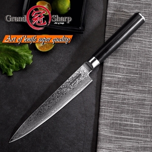 Image 4 - Damascus Kitchen Knife 5.9 Inch Utility Knife Japanese vg10 Damascus Steel Kitchen Knives Chef Cooking Tools 67 layers Stainless