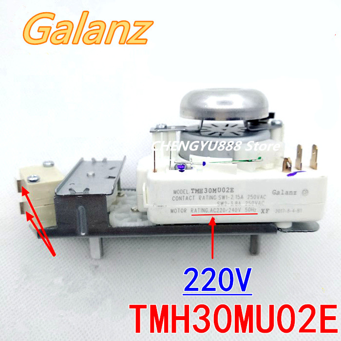 220V microwave oven timer for galanz TMH30MU02E microwave oven parts good microwave oven timer tmh30mu02e 220 240v 4 pins bbq function