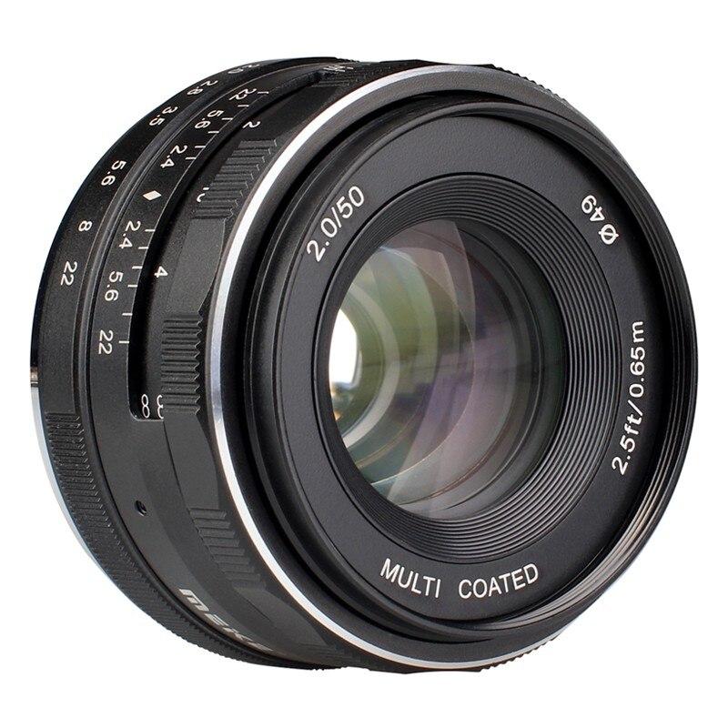 Meike50mm f 2.0 Grande Abertura APS-C Manual Focus lens para Fujifilm X-E3 X-T3 X-T2 X-T2 X-T20 X-T100 X-PRO2 X-PRO1