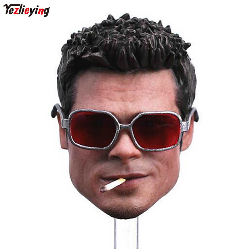 142868316d Custom Brad Pitt Fight Club Tyler Durden 1 6 Scale Head Sculpt Damage  Version W