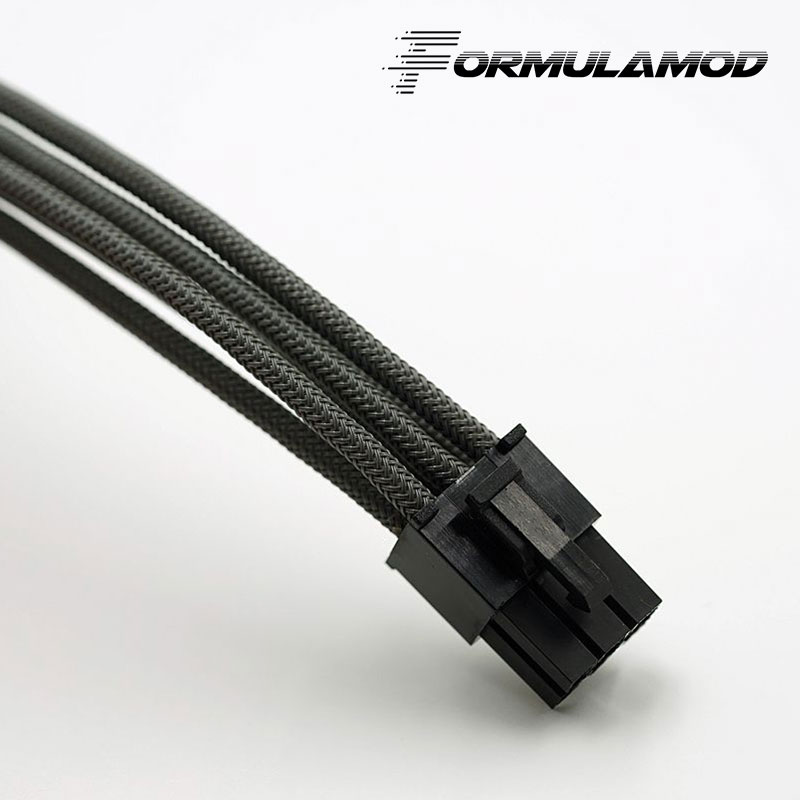 FormulaMod Fm-PCI6P-A, PCI-E 6Pin GPU удлинитель питания, материнская плата 18AWG 6Pin многоцветные соответствующие кабели расширения - Цвет лезвия: Gray