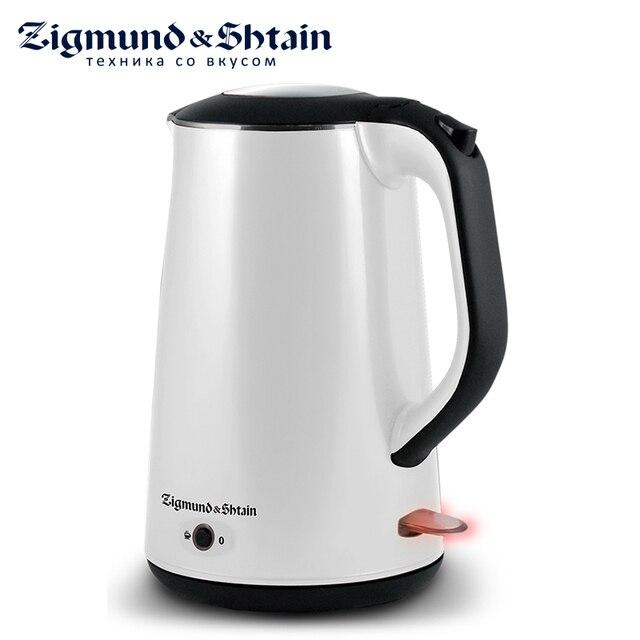Zigmund & Shtain KE-78 Электрический чайник, 2200 Вт, Низкий уровень шума при закипании, Режим автоматического поддержания температуры воды, Ненагревающаяся внешняя поверхность корпуса