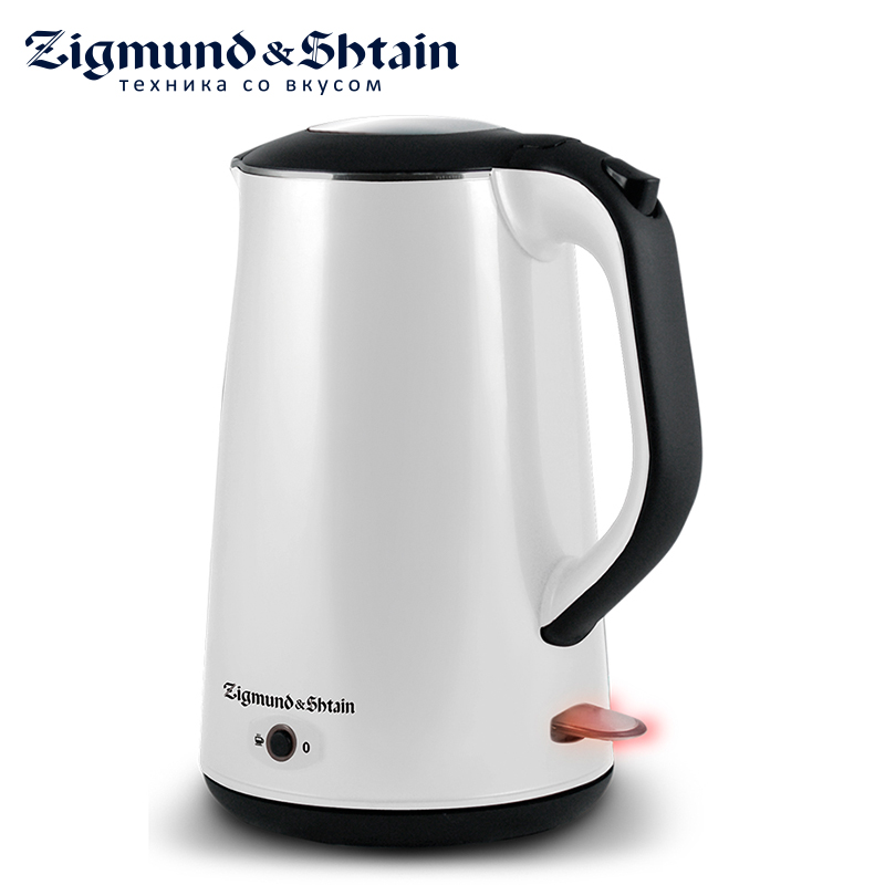 Zigmund & Shtain KE-78 Electric Kettle 2200W Low noise at boiling Non-heating external plastic surface
