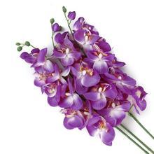 Искусственная Орхидея, бабочка цветок, растение, свадебная брошь, искусственный цветок для свадьбы декоративные венки свадебное оформление автомобиля весна украшения