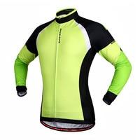 WOLFBIKE Men Winter Thermal Fleece Cycling Jersey Bike Bicycle Mountaion MTB Jersey Clothing Shirts
