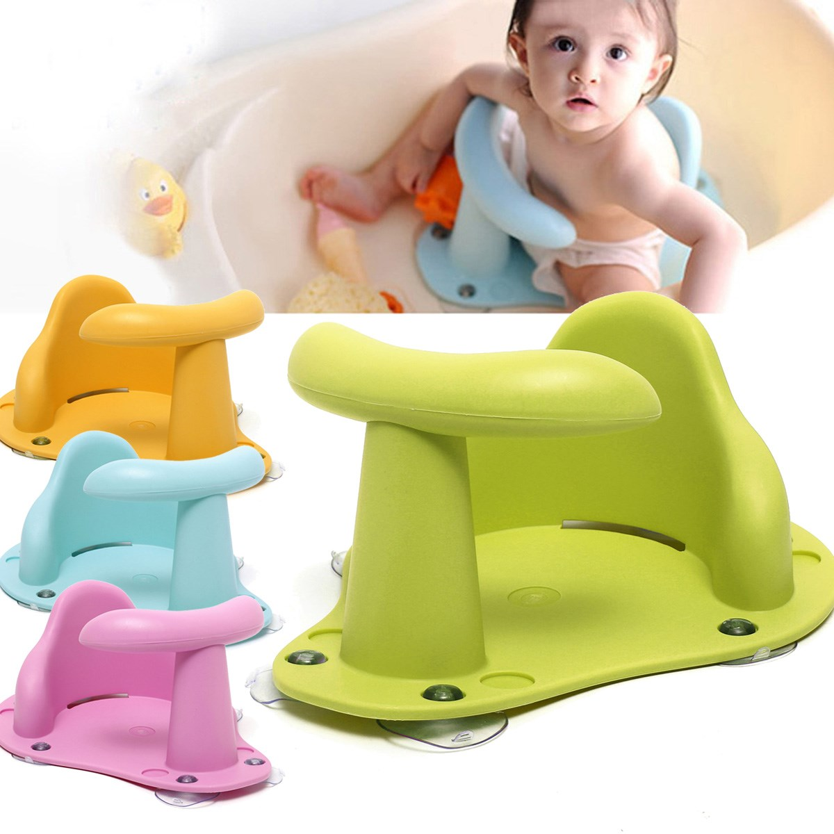 Baby Infant Kids Toddler Bath Seat Ring Non Slip Safety Chair Mat ...