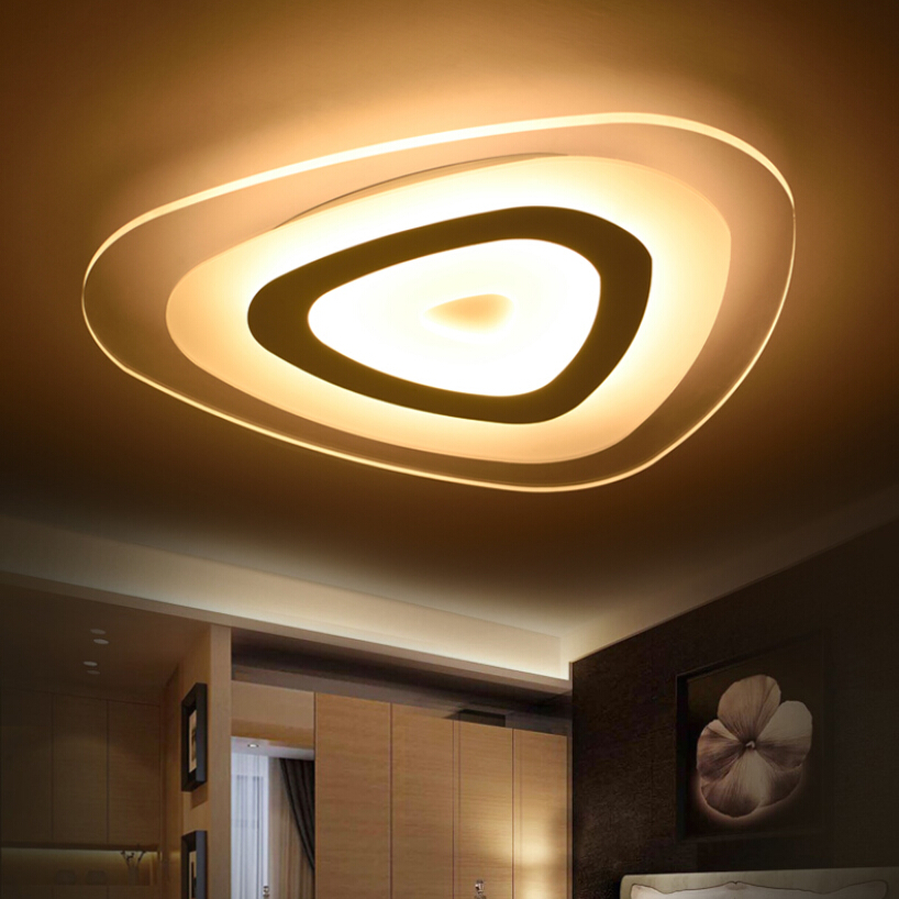 Ultrathin Surface Mounted Triangle Modern led ceiling lights lamp for living room bedroom lustres de sala home Dec Ceiling Lamp цена 2017