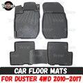 Автомобильные коврики для Renault / Dacia Duster 4WD 2010-2017 резиновые 1 комплект/4 шт. или 2 шт. аксессуары защита для украшения ковра