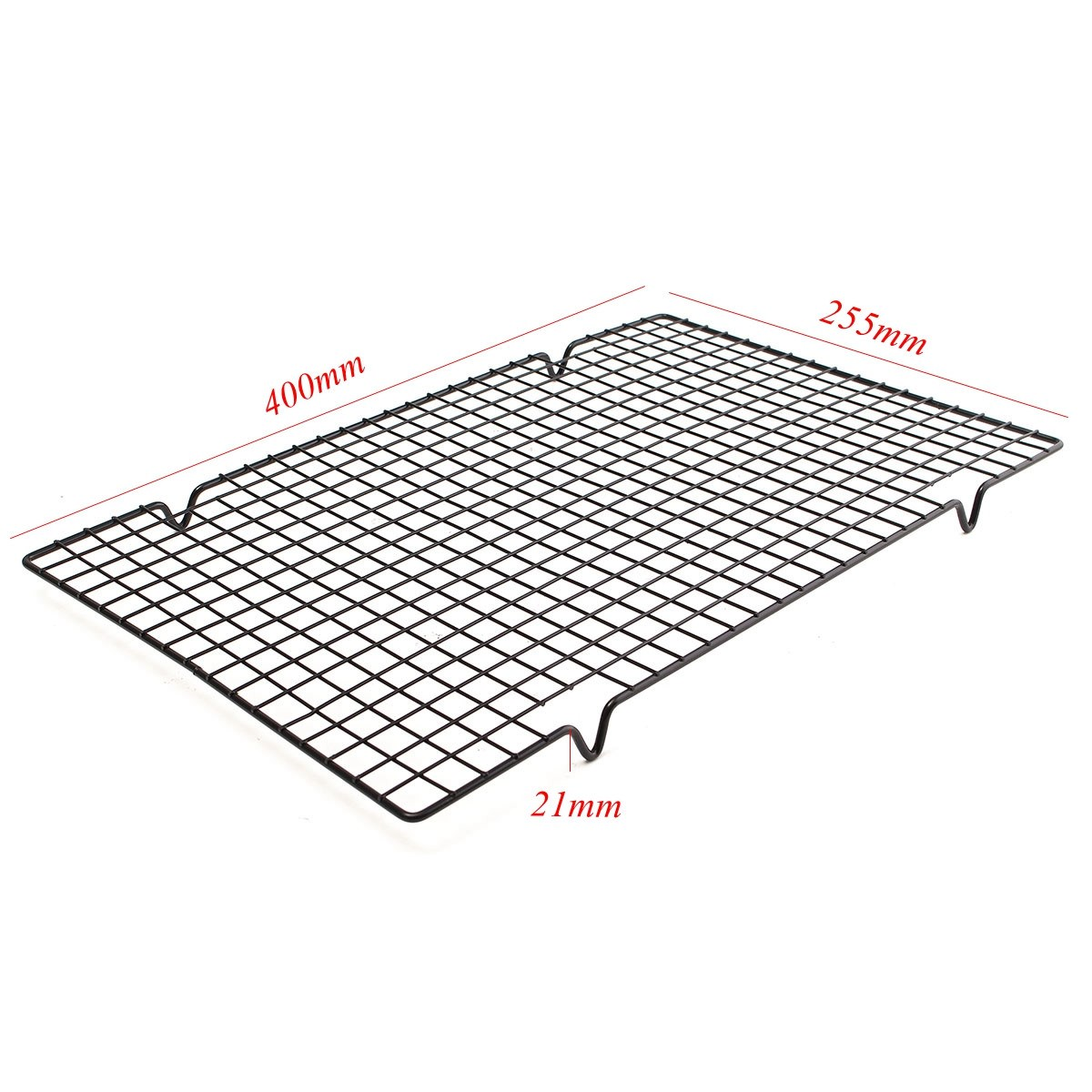 25x40CM Nonstick Cooling Rack Cake Drying Stand Mesh Grid Baking ...