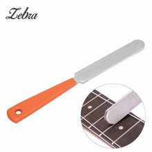 Zebra 1pcs Stainless Steel Guitar Fret Crowning Luthier File Narrow Dual Cutting Edge Tool For Musical Guitar Parts Accessories