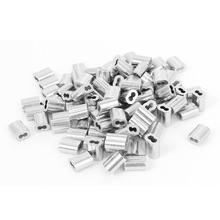 UXCELL 1/16 Wire Rope Aluminum Sleeves Clip Fittings Cable Crimps 100 Pcs