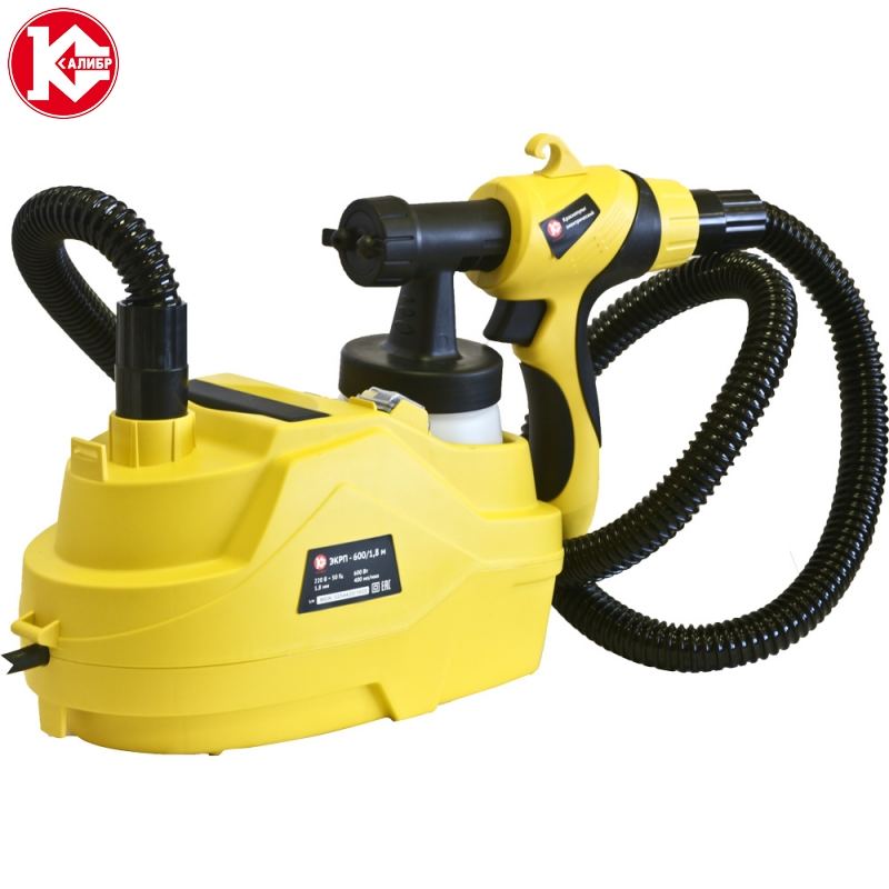 Electric paint spray gun Kalibr MASTER EKRP-600/1,8M