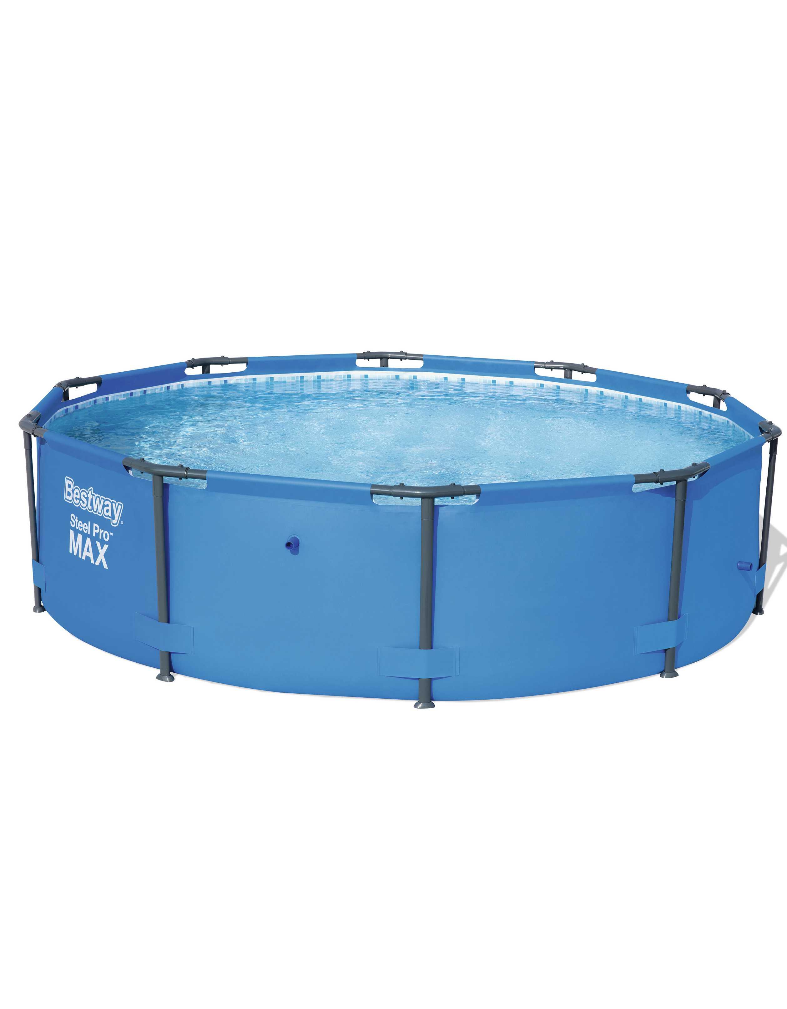 Scaffold Round Pool For Garden Summer Leisure Outdoor Size 305 X100 Cm, Volume 6500 L, Bestway Blue, Item No. 15327