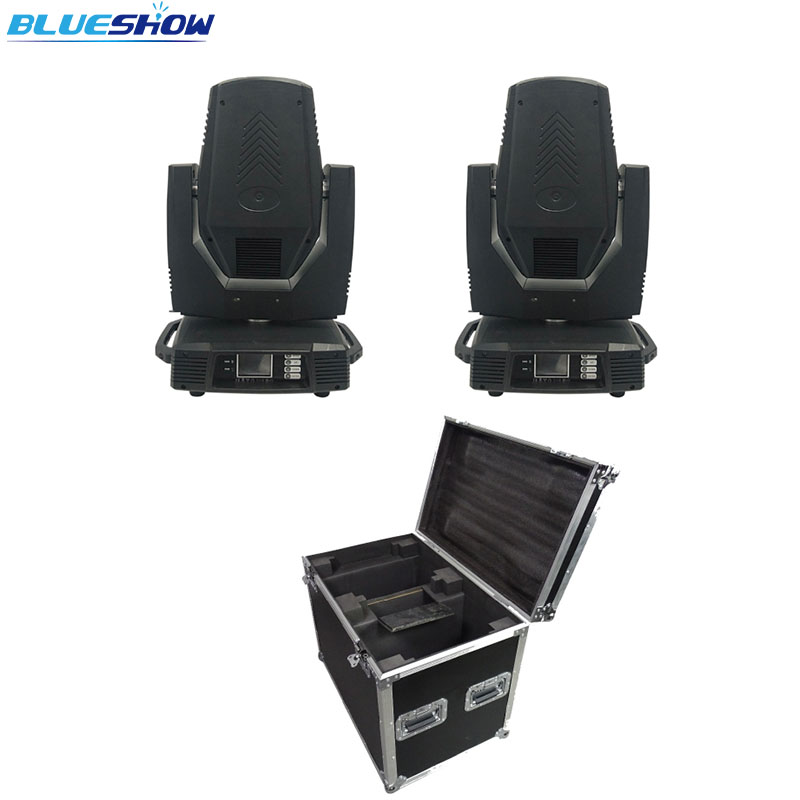 No Tax Custom By Sea, 2pcs/flightcase Lyre 18r Sharpy Beam 380w LED Moving Head Light