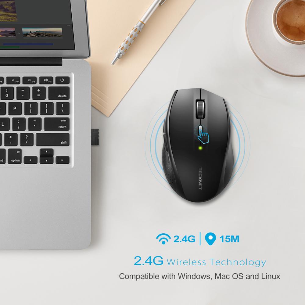TeckNet optična brezžična miška 2,4 GHz klasična brezžična - Računalniška periferna oprema - Fotografija 6