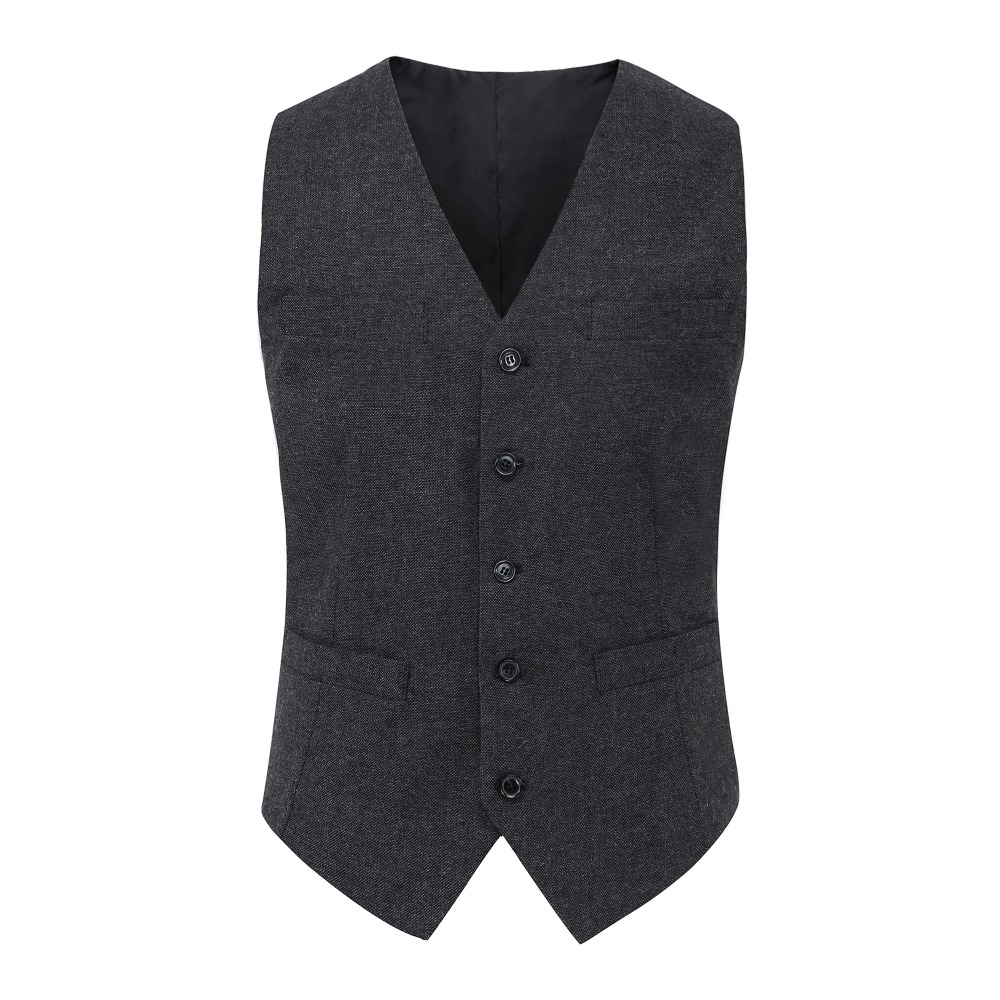 2019 New Arrival Airtailors Vintage Tweed Vest For Rustic Wedding Dark Grey And Brown Two Colors Plus Size
